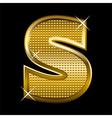 Golden font type letter S vector image vector image