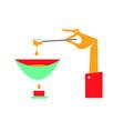 gourmet swiss fondue dinner flat vector image
