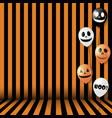 halloween background with striped room lines vector image vector image
