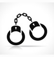 handcuffs icon black design vector image vector image