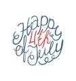Happy Independence day handlettering element vector image