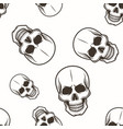 human skull seamless pattern black on white vector image vector image