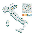 italy map filled with vector image vector image