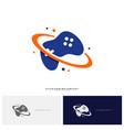 joystick game logo concept template design game vector image vector image