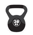 kettlebell sport equipment cartoon style vector image vector image