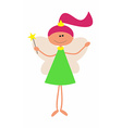 Little Cute Fairy with Magic Wand arniva vector image vector image