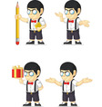 Nerd Boy Customizable Mascot vector image vector image