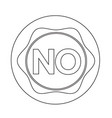 no button vector image vector image