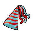 party hat accessory symbol of the celebration vector image vector image