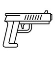 police pistol icon outline style vector image vector image