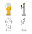 pub and bar sign vector image vector image