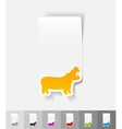 realistic design element hippopotamus vector image vector image