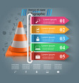 repair road infographic design template and vector image vector image