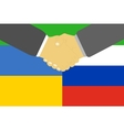 Russia and Ukraine crisis vector image