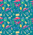 Seamless pattern drawn in a childlike style vector image vector image