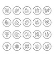 set round line icons seasoning vector image vector image