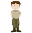 Soldier in green uniform vector image vector image