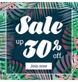 Summer sale Web-banner or poster with palm leaves vector image vector image