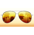 sunglasses reflection vector image vector image