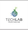 tech lab logo design science laboratory vector image vector image