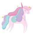 unicorn animal fantasy magical cartoon icon vector image vector image