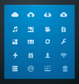 Universal glyphs 10 cloud services vector | Price: 1 Credit (USD $1)