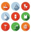 Bar flat icons set vector image