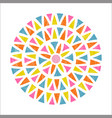 mandala design in mexican ethnic style vector image