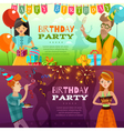Birthday Party 2 Festive Horizontal Banners vector image