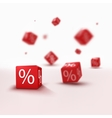 3D discount boxes dice for store market and shop vector image vector image