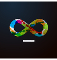 Abstract infinity symbol on Black Background vector image vector image