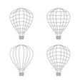 air balloon icon set on whie vector image