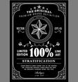 antique frame typography label poster vintage vector image vector image