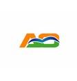 AO initial company group logo vector image vector image