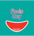 april fools day emotion loud laughter fools day vector image
