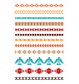 aztec tribal borders vector image vector image