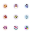 Baby icons set pop-art style vector image vector image