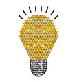 background with abstract light bulb with geometric vector image vector image