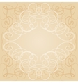 Background with ornamental curly frame in retro vector image
