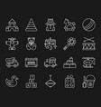 batoy simple white line icons set vector image vector image