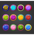 Big set of circle web button vector image vector image
