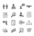 black job search icons set vector image