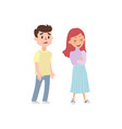cartoon man and woman quarreling angry couple qua vector image