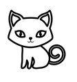 cat pet animal domestic outline vector image vector image