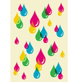 Colorful drops transparency pattern vector image vector image