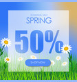 design square banner for the spring sale at a vector image