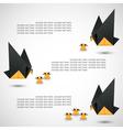 dove origami vector image