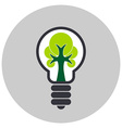 Ecological light bulb with tree inside Icon vector image vector image