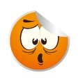 emoticon face isolated icon vector image vector image