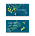 fast delivery company business card template vector image vector image